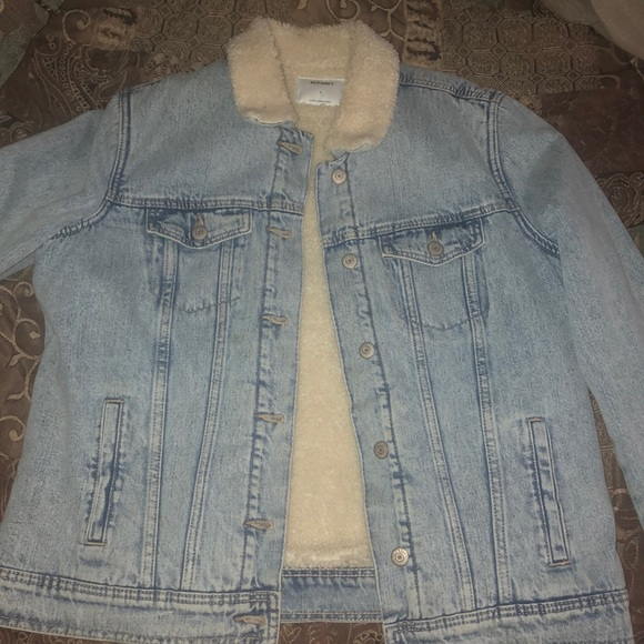 Old Navy Jackets & Blazers - Jean jacket with fleece inside